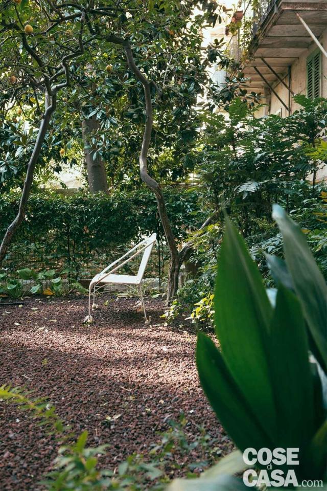 giardino di abitazione ex legnaia soggetta a recupero