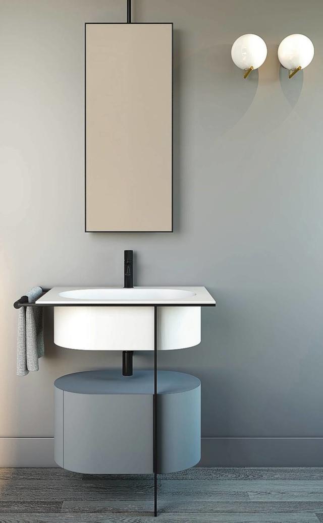 mobile lavabo Kyros di Ceramica Cielo