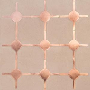 Pavimento decorato in argilla di Matteo Brioni: decori Fuga