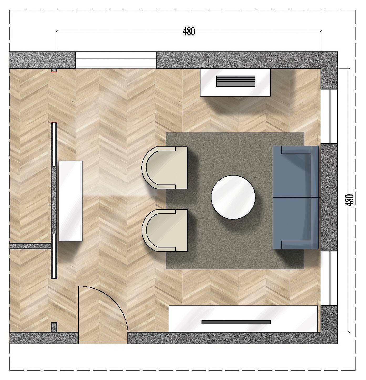 Soggiorno quadrato rettangolare o a l come arredarli for Disposizione mobili soggiorno