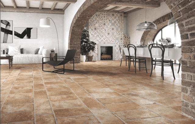 piastrelle in gres effetto cotto ceramica rondine tuscany