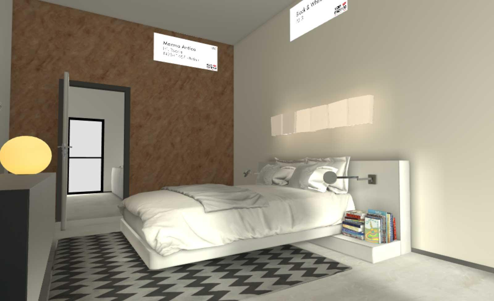 Tinteggiare Camera Da Letto realtà virtuale per dipingere le pareti e scegliere il
