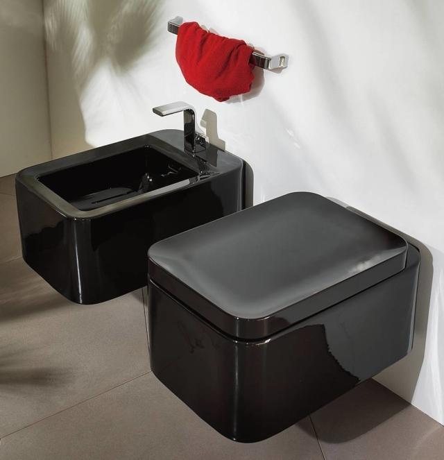 arredare il bagno con i sanitari neri Nile di Flaminia