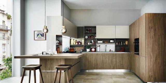 Cucine moderne arredamento idee cucine con isola o for Cucina e sala insieme