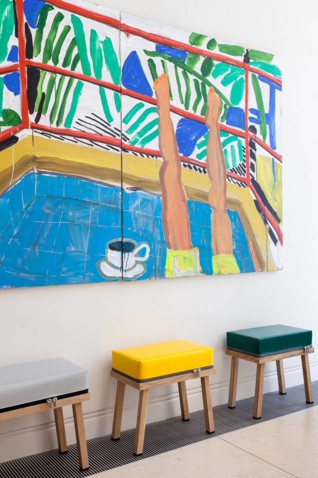 Truecolors, sgabelli con seduta intercambiabile di pvc, Visser+Meijward. Al Design Supermarket della Rinascente.