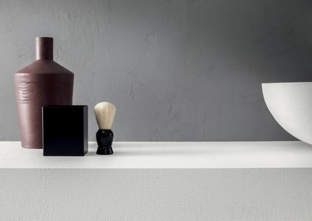 Superficie materica Pietrablu Juta di Arblu premiato ADI Ceramics & Bathroom Design Award