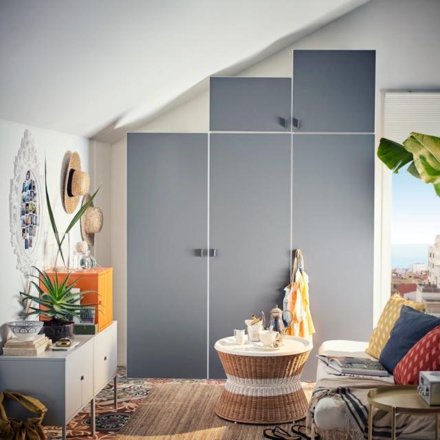 Armadio per la camera da letto standard o su misura per un effetto tutta parete cose di casa - Costo cabina armadio ikea ...