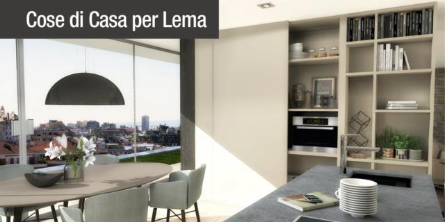 Dividere soggiorno e cucina senza pareti. Un progetto in 3D