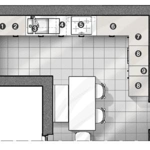 Progetto: zona cottura a parete con piastra a induzione