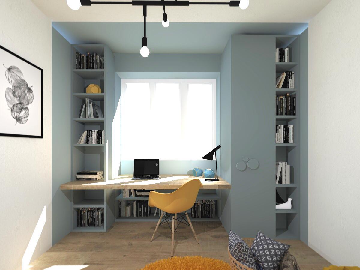 Come Allestire Una Libreria sfruttare lo spazio intorno alla finestra con studio e