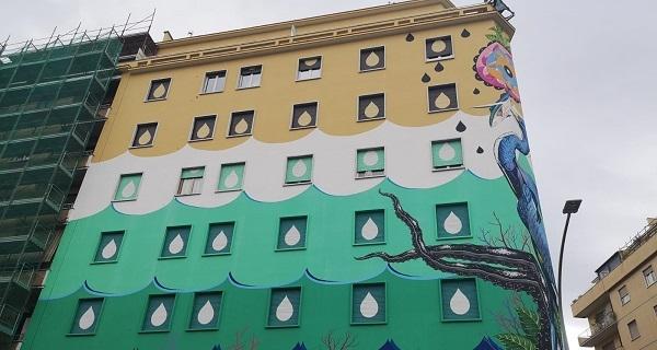 A Roma nel quartiere Ostiense il più grande murales ecologico d'Europa
