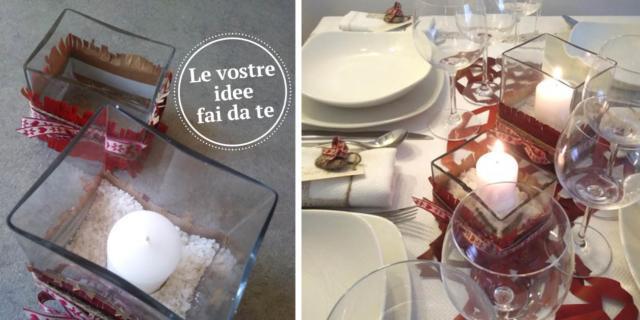 Decorazioni in carta fai da te per apparecchiare la tavola di Natale ravvivandola con il colore preferito