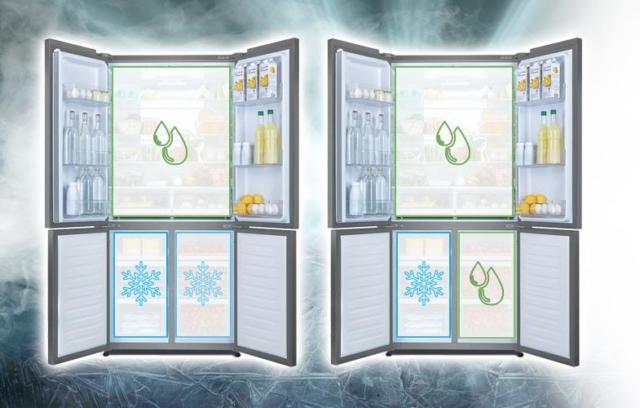 Haier presenta due modelli di frigoriferi a 4 porte, HTF-610DM7 e HTF-610DSN7 versione Iconic Black, che dispongono di Switch Zone, una funzione che permette di usare una delle sezioni come refrigeratore o come congelatore. Il sistema Trilogic, con tre circuiti di raffreddamento separati e controllati da un unico compressore, inoltre, consente di regolare indipendentemente la temperatura dei tre comparti, mantenendo un livello ottimale di umidità e impedendo lo scambio di odori. I due modelli, che si collocano in classe energetica A++, si avvalgono anche di sistema antibatterico ABT e offrono 12 anni di garanzia sul compressore. Capacità netta totale 610 litri. Misure: L 91 x P 74 x H 190 cm. Prezzo: modello HTF-610DSN7 (versione Iconic Black) 2.199 euro; modello HTF-610DM7 (Inox) 1.649 euro. www.haier.com/it