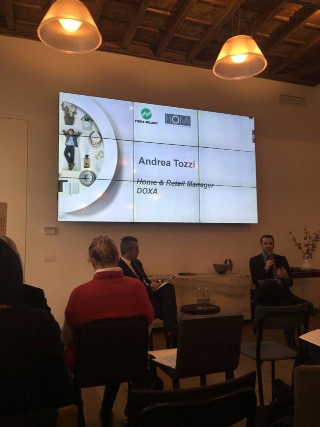 Cristian Preiata, direttore Homi, alla presentazione dell'edizione di HOMI 2019 presso CASALAGO a Milano, in Via San Tomaso.