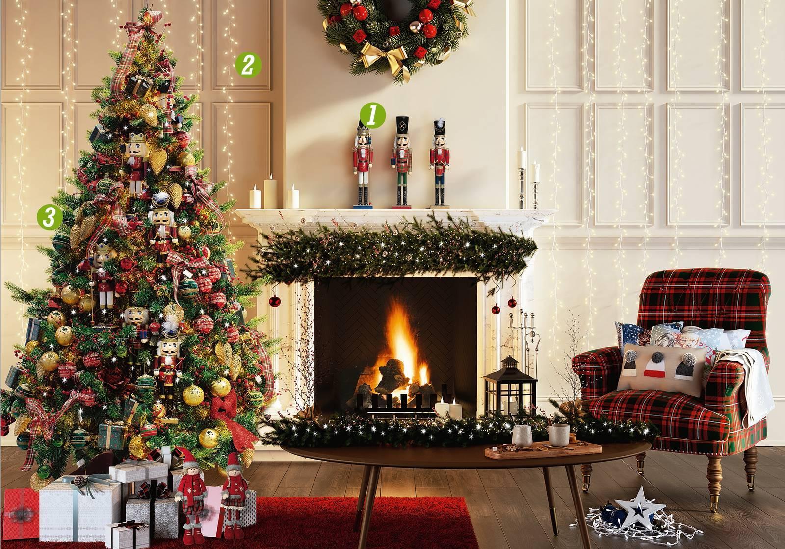 Albero Di Natale 50 Cm.Albero Di Natale E Addobbi Per Una Magica Atmosfera Cose Di Casa
