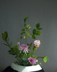 Composizione ikebana di Xu Fei