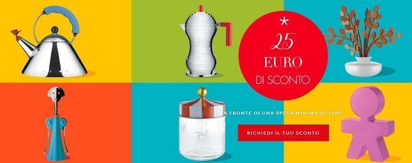 Il Natale da Alessi: buono sconto di 25 euro se spendi almeno 100 euro