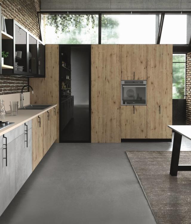 aran Cucine_Lab13_Garage Style2 (4) cucina con maniglie