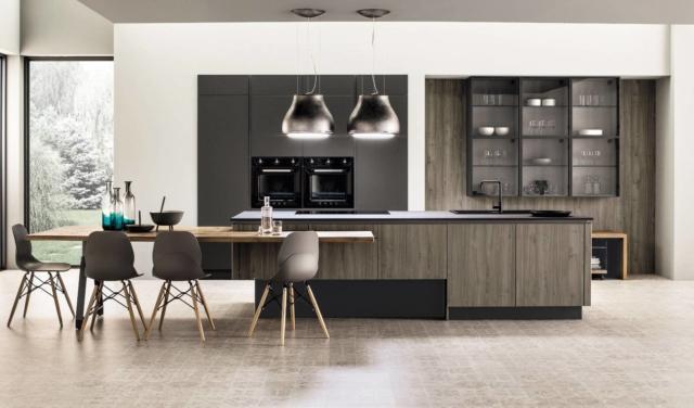 cucina con gola legno modello arrex PRIMAVERA