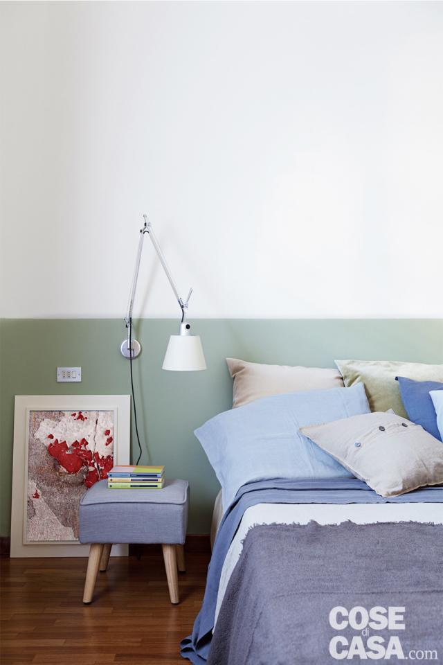 camera-da-letto-comodino casa in stile nordico