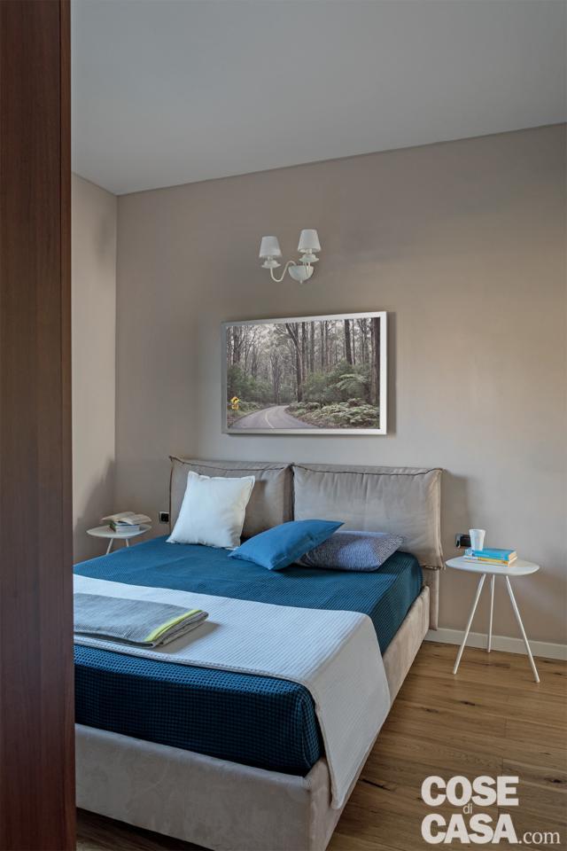 quadrilocale 86 mq camera con particolare del letto