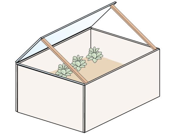 3. Nel caso di giornate soleggiate, invece, durante le ore centrali del giorno si apre il vetro del cassone per fare arieggiare le aromatiche sul terrazzo.