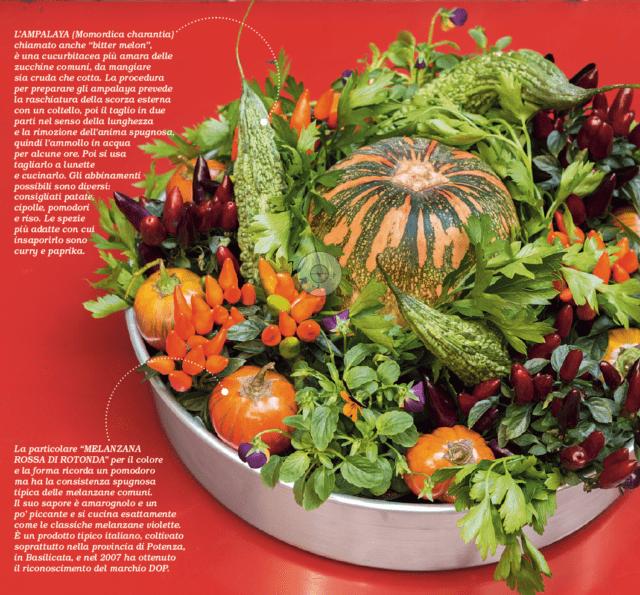 centrotavola verdura