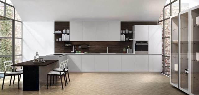 cucina con gola bianca euromobil Kitchen lain