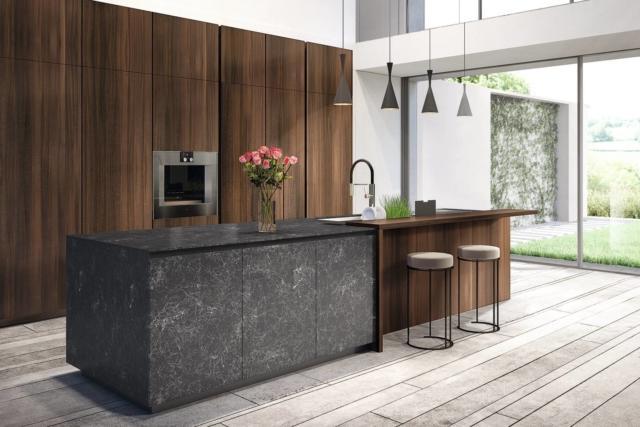 euromobil Kitchen_Telero 1 (1) cucina con piano effetto marmo-gres