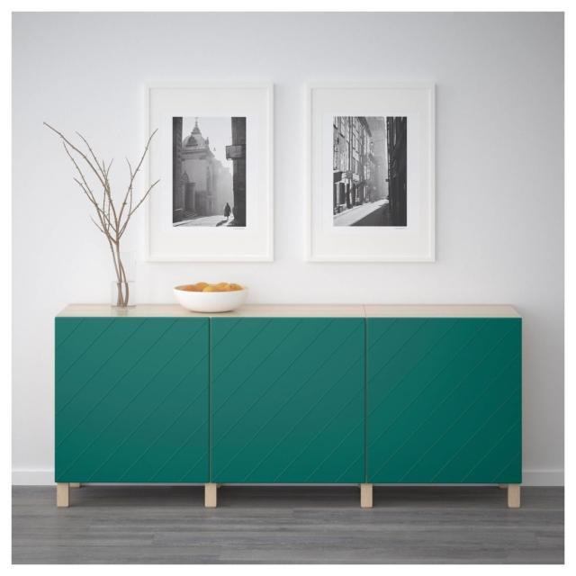 madia colorata verde ikea besta