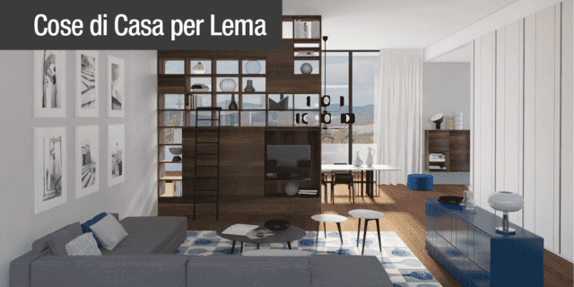 Arredare il soggiorno open space con arredi bifacciali. Progetto in ...