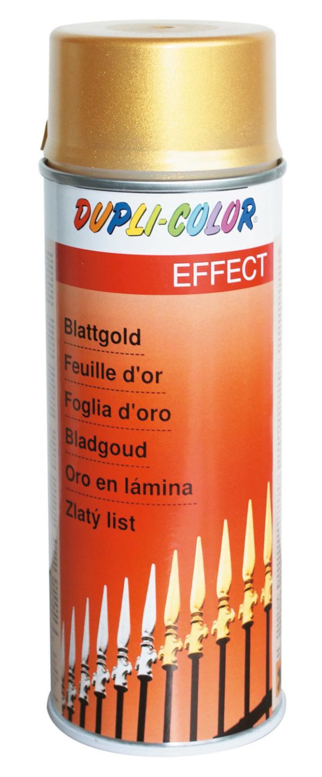 Per tutte le superfici, lo spray effetto bronzo oro di Leroy Merlin  (www.leroymerlin.it) in barattolo da 400 ml costa 11,90 euro.
