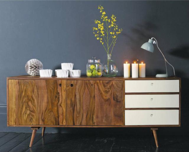 madia legno Modern Millerighe Caneté porro