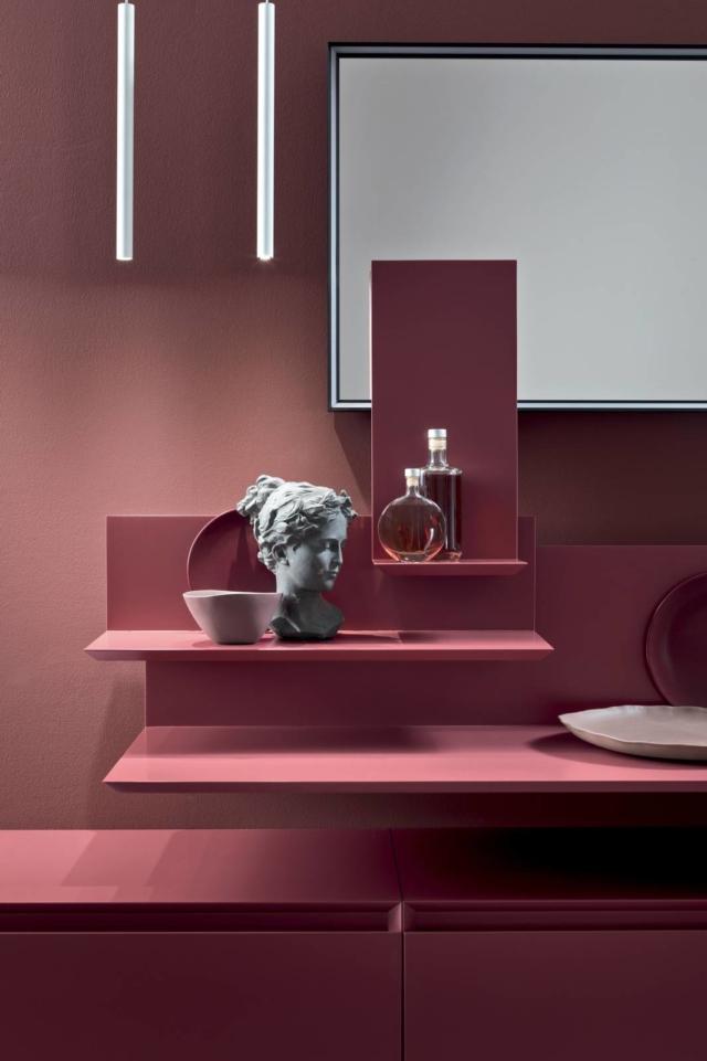 mobili sospesi rosa per il bagno moov arcom bagno