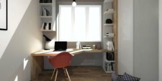 scrivania sotto la finestra progetto 3D