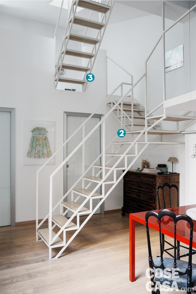 scala e porte progetto per sfruttare l'altezza
