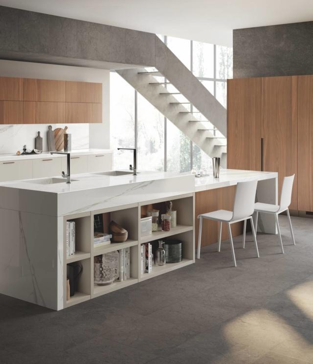 scavolini Material_Selection_III_Mood_pag_32 cucina con piano effetto marmo-gres
