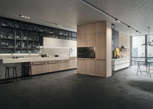 snaidero AB_INTERNO_A75 cucina con maniglie