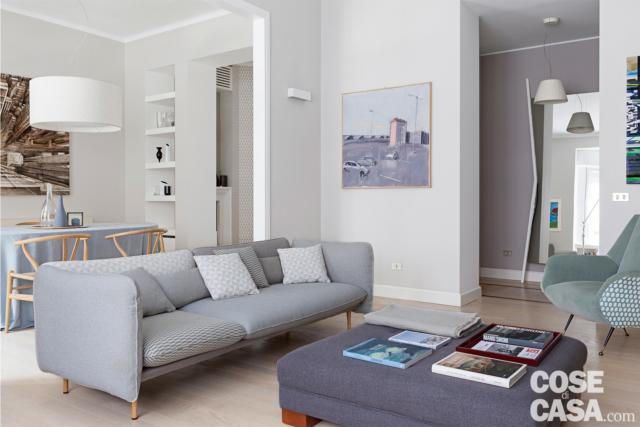 soggiorno-divano  casa in stile nordico