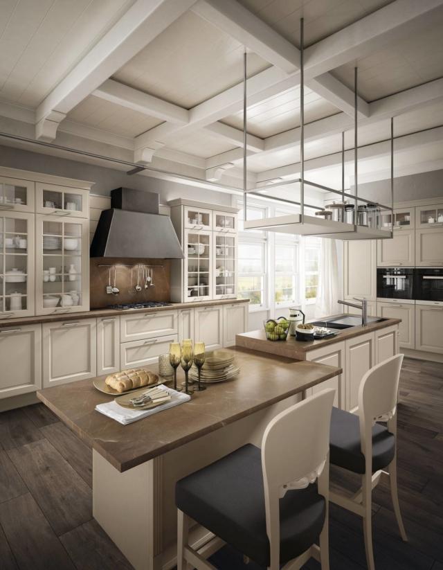 Cucina Dolcevita con piano in marmo di Stosa