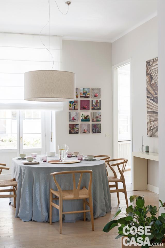 tavolo-da-pranzo-tovaglia casa in stile nordico