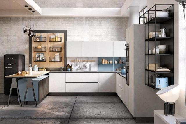 cucina bianca con gol top Lops - Carmen
