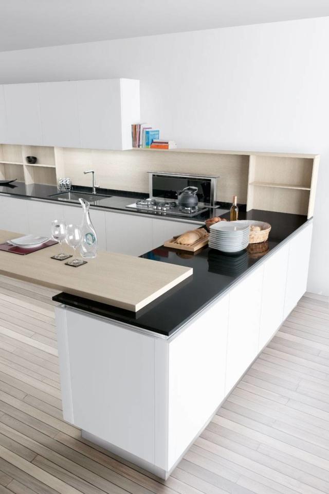 top Lops - Nini_12 laminato hpl cucina con piano effetto marmo- laminato hpl