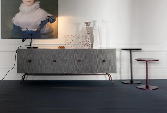 madia ante tessuto grigio Tweed modello lounge fusion di Twils