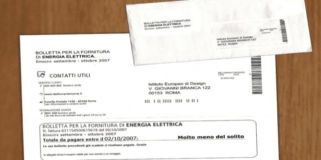 bolletta energia elettrica, per quanto conservare i documenti?