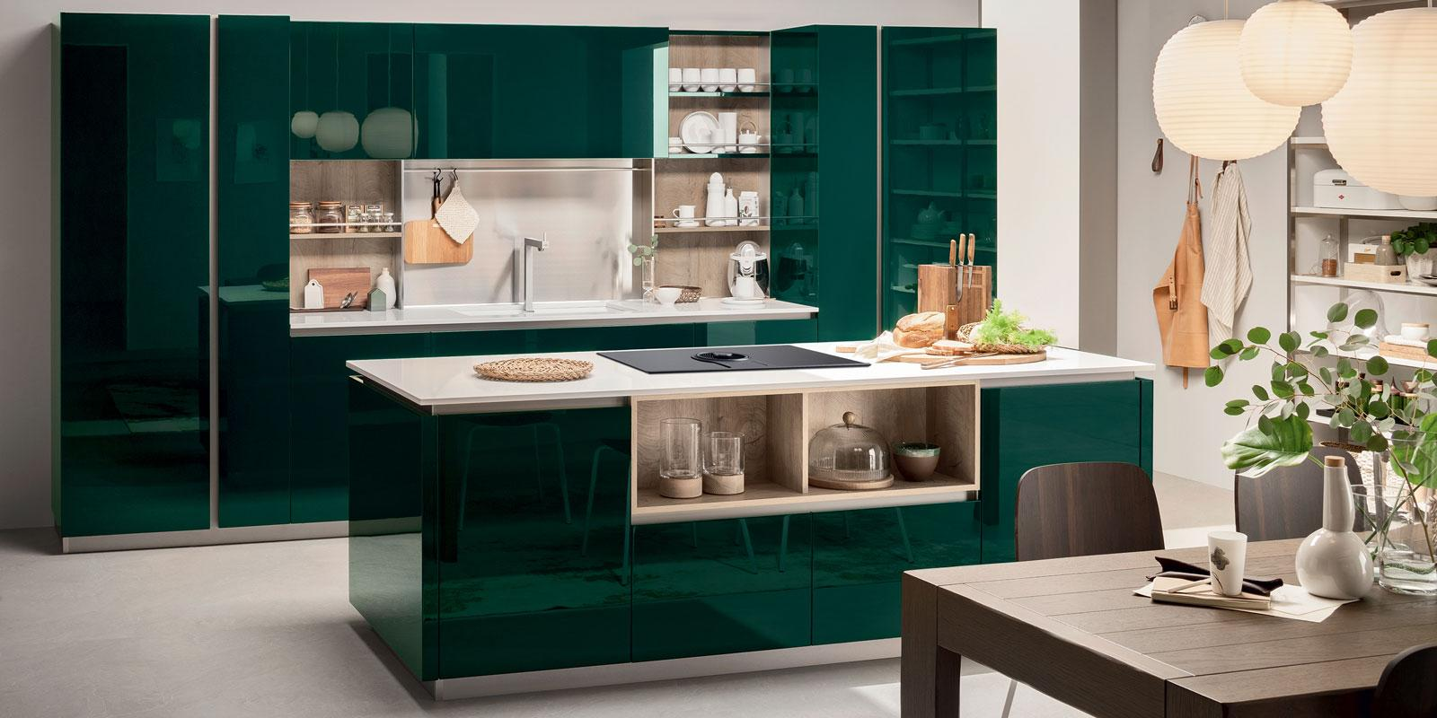 Cucine con gola perfette per l 39 open space contemporaneo for Case moderne interni cucine
