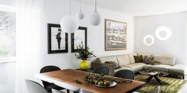 Open space con living, cucina e pranzo: da tre ambienti a uno solo