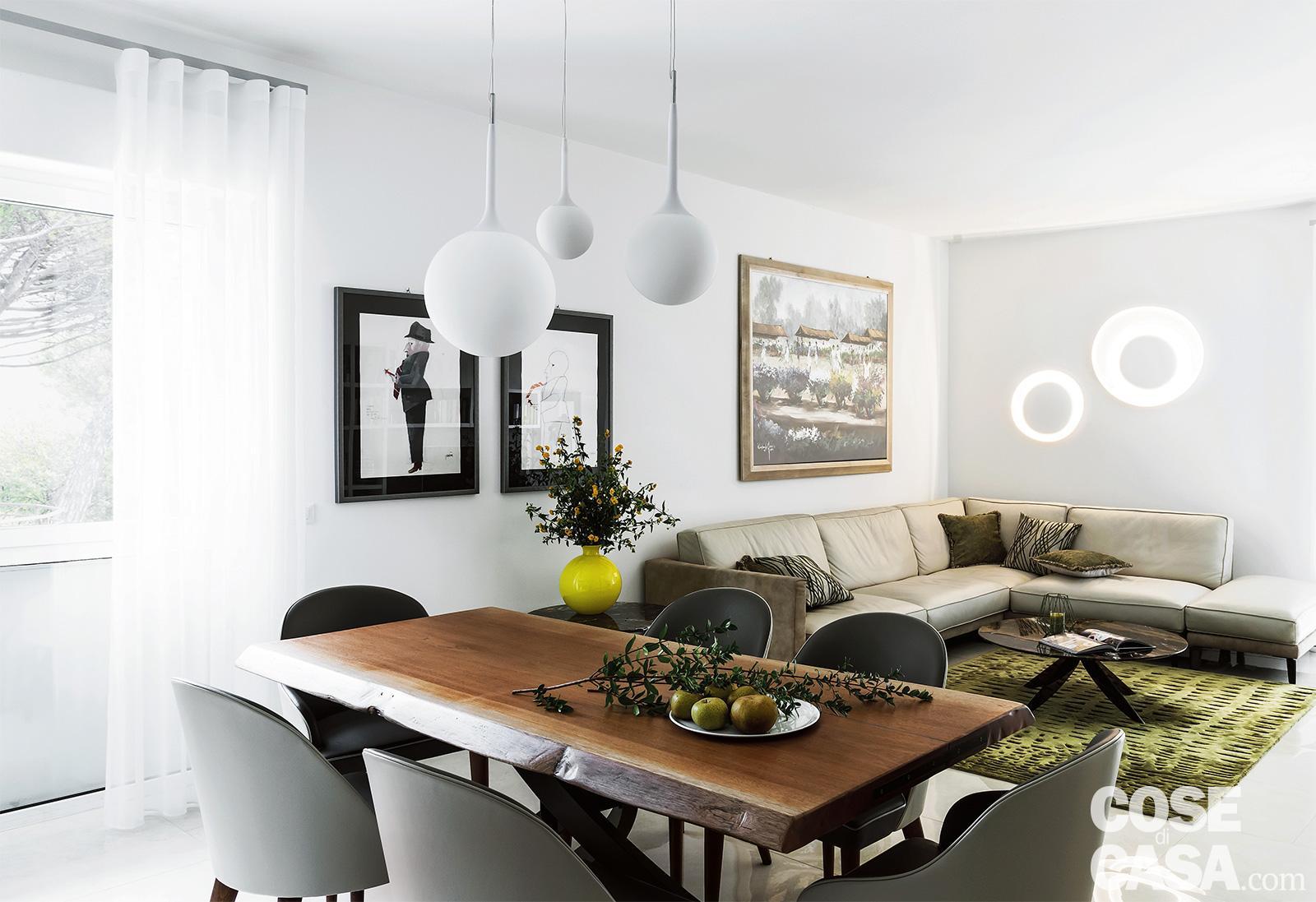 Open Space Cucina E Soggiorno open space con living, cucina e pranzo: da tre ambienti a