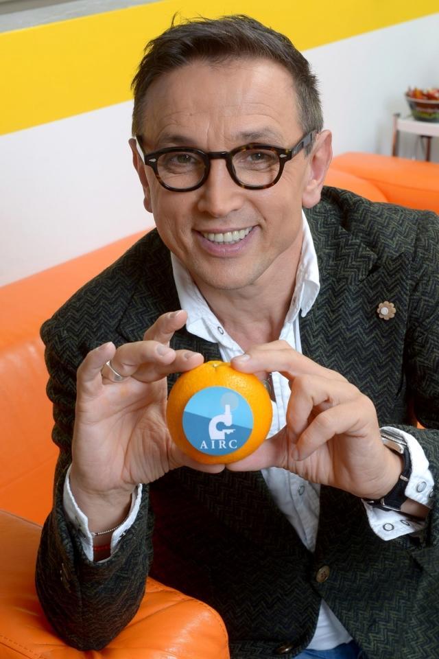 Bruno Barbieri,  testimonial con le Arance della Salute
