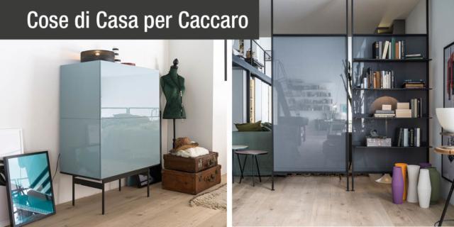 Arredare, contenere, separare… le versatili proposte firmate Caccaro